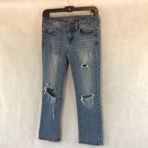 American eagle artist crop stretch jeans SZ 4